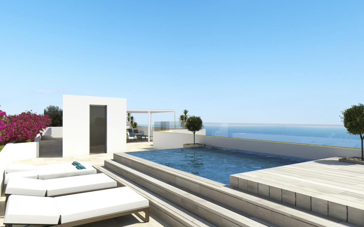 Spectacular Penthouse With Pool And Sea Views In Illetas